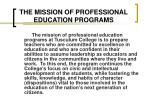 the mission of professional education programs