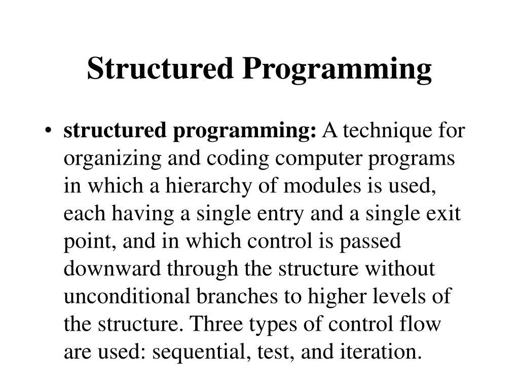 structured programming l.