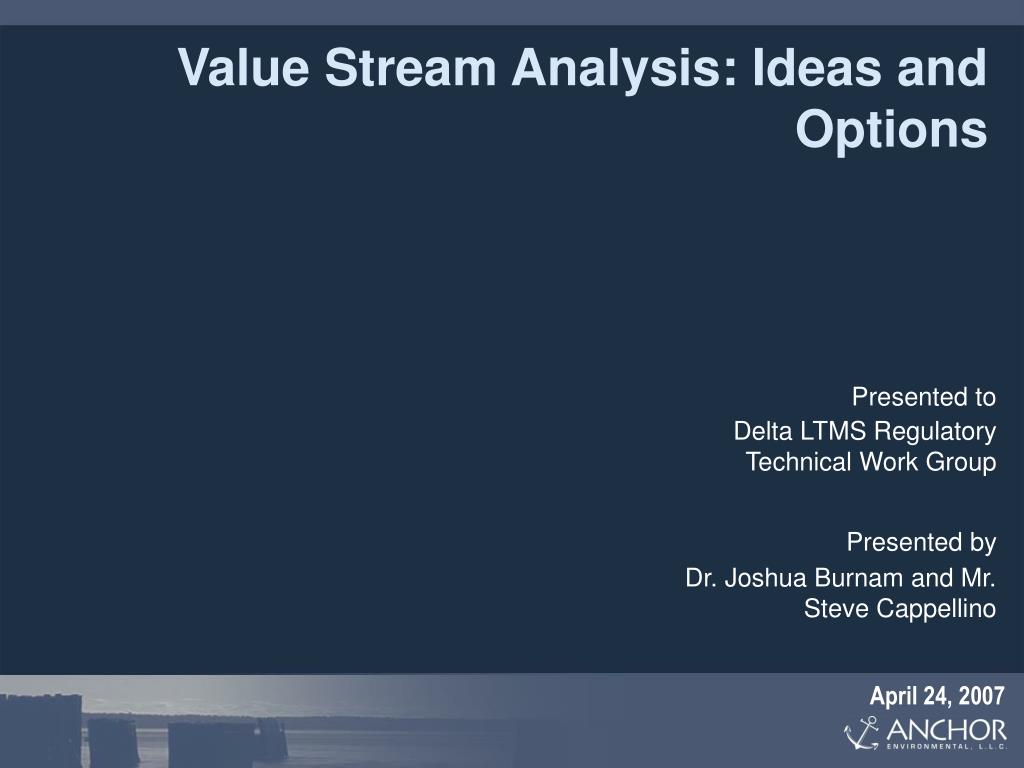 value stream analysis ideas and options l.