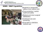 ndms dmat capabilities