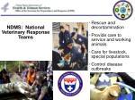 ndms national veterinary response teams