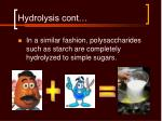 hydrolysis cont18