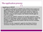 the application process9