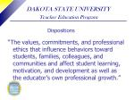 dakota state university teacher education program27