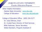 dakota state university teacher education program36