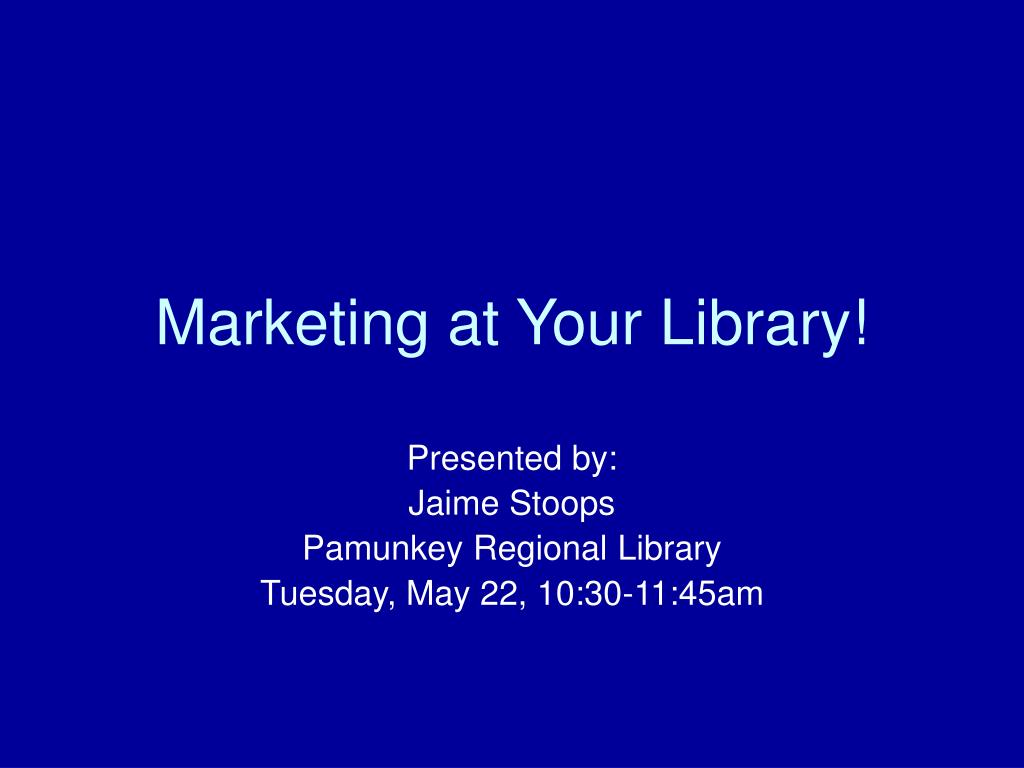 marketing at your library l.