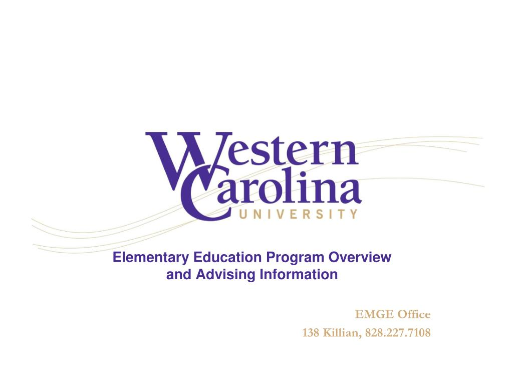 elementary education program overview and advising information l.