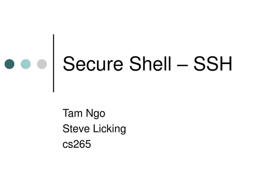 secure shell ssh l.