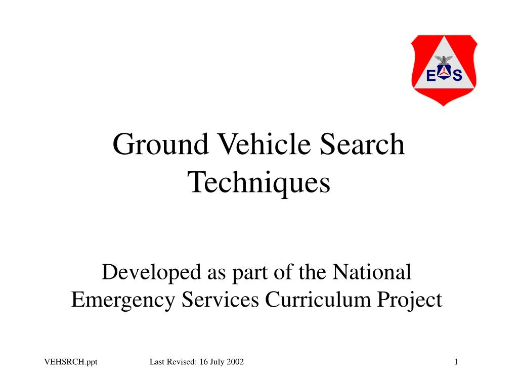 ground vehicle search techniques l.