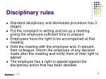 disciplinary rules