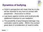 dynamics of bullying