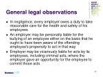 general legal observations