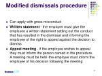 modified dismissals procedure