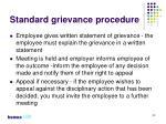 standard grievance procedure