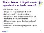 the problems of litigation an opportunity for trade unions