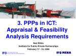 3 ppps in ict appraisal feasibility analysis requirements