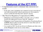features of the ict ppp
