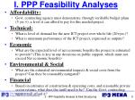 i ppp feasibility analyses