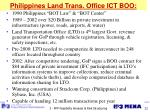 philippines land trans office ict boo