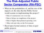 the risk adjusted public sector comparator ra psc