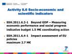 activity 8 6 socio economic and scientific indicators