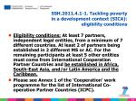 ssh 2011 4 1 1 tackling poverty in a development context sica eligibility conditions
