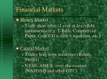 financial markets14