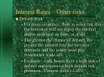 interest rates other risks27