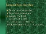 nominal risk free rate