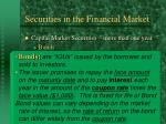securities in the financial market17