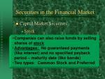 securities in the financial market19