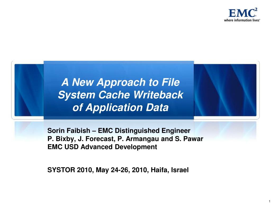 a new approach to file system cache writeback of application data l.