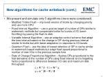 new algorithms for cache writeback cont