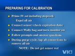preparing for calibration