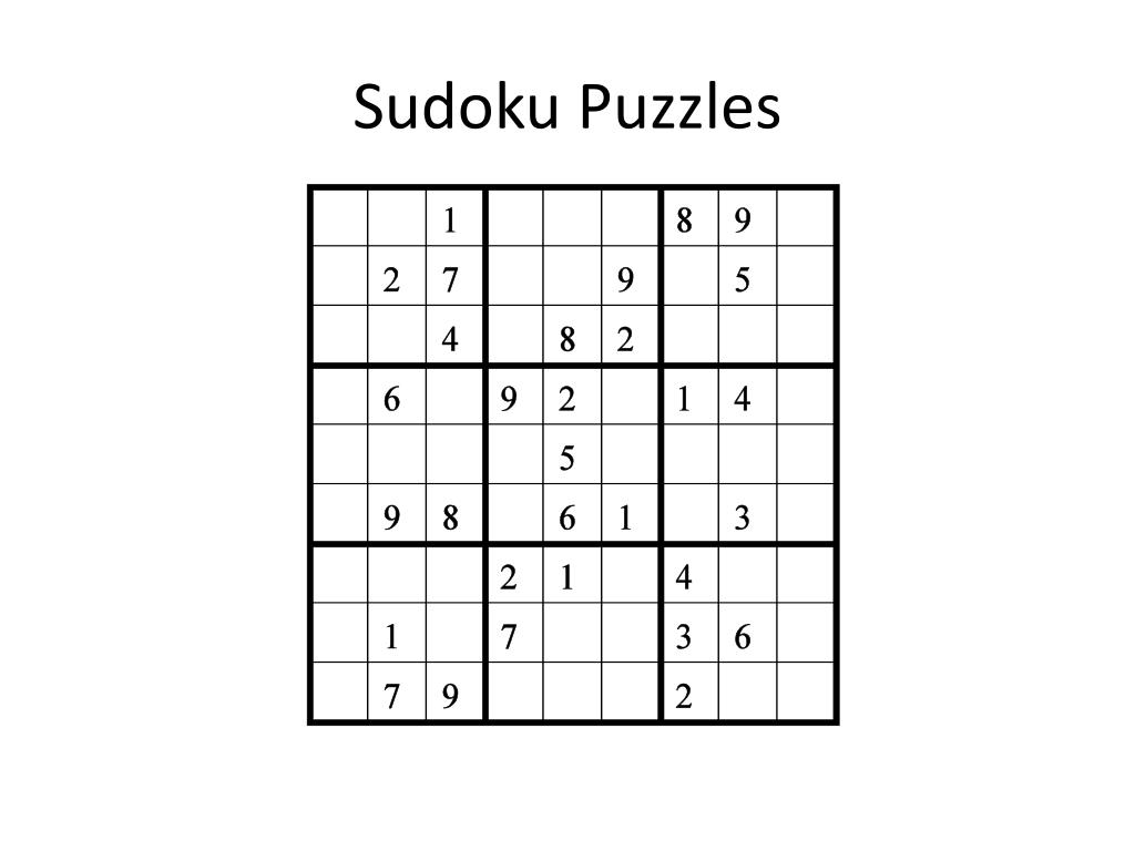 sudoku puzzles l.