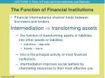 the function of financial institutions
