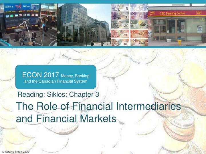 the role of financial intermediaries and financial markets n.