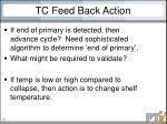 tc feed back action