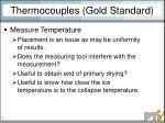 thermocouples gold standard