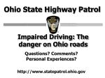 impaired driving the danger on ohio roads