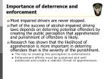 importance of deterrence and enforcement