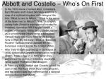 abbott and costello who s on first