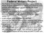 federal writers project