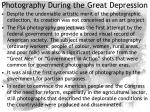 photography during the great depression