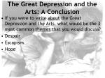 the great depression and the arts a conclusion