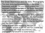 the great depression and the arts photography