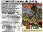 war of the worlds 1938
