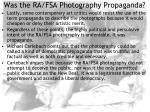 was the ra fsa photography propaganda18