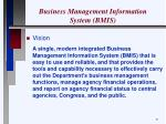 business management information system bmis