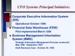 cfo systems principal initiatives